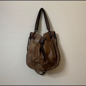 Loons Brown Leather Large Bag